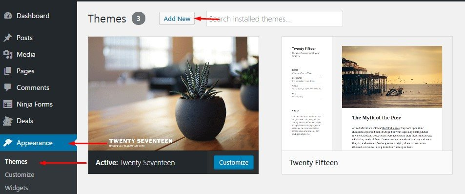 How-to-Install-a-WordPress-Theme-by-Search-Themes-Page
