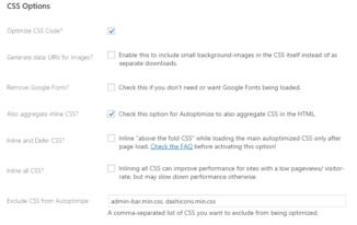 Autoptimize Optimize CSS Code