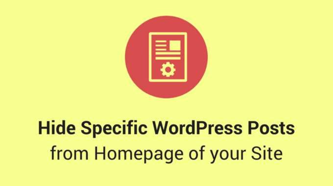 How to hide Specific WordPress Posts from the Homepage of your Site?