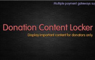 Donation-Content-Locker-Plugin