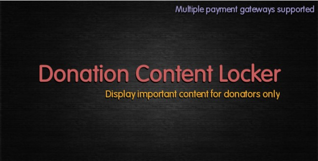 Donation-Content-Locker-Plugin