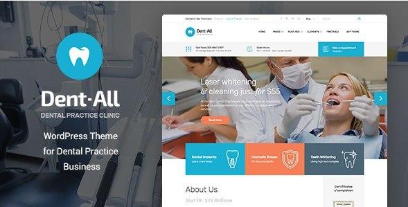 Dentall Dental WordPress Theme