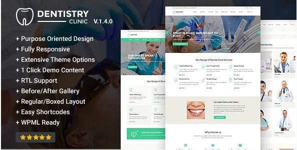 Dentistry-Dental Clinic WordPress Theme