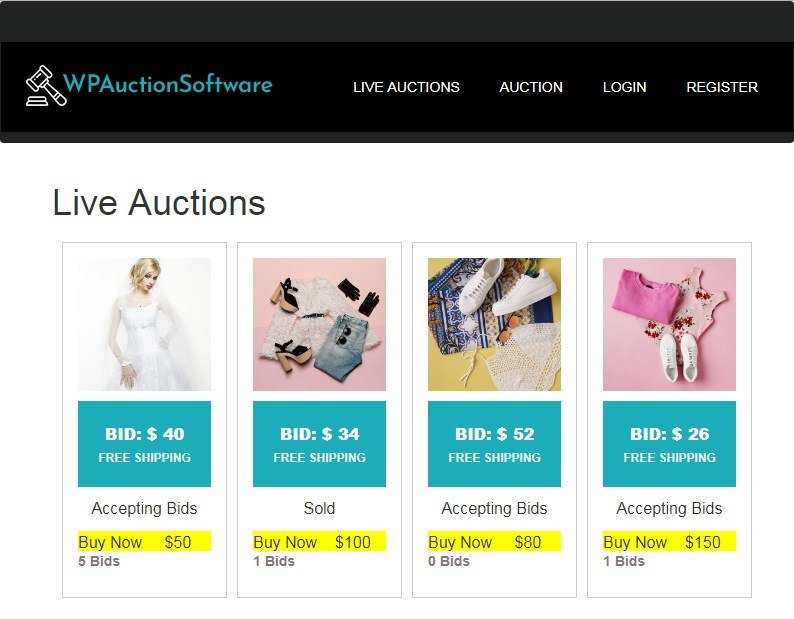 WP-Auction-Software