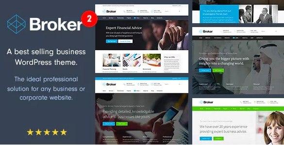 Broker Business WordPress Theme