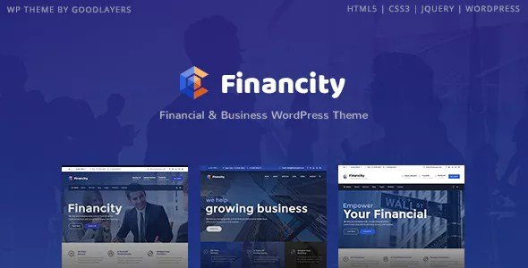 Financity Finance WordPress Theme