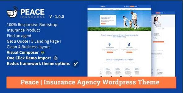 Peace WordPress Insurance Theme