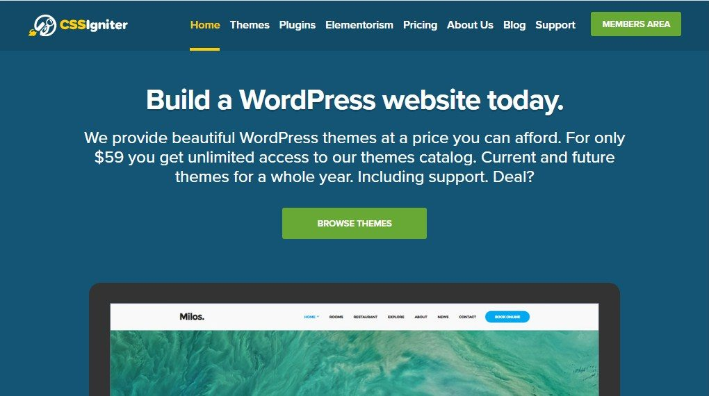 CSSIgniter WordPress Themes Plugins