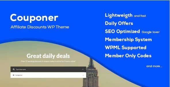 Couponer Coupons Discounts WordPress Theme