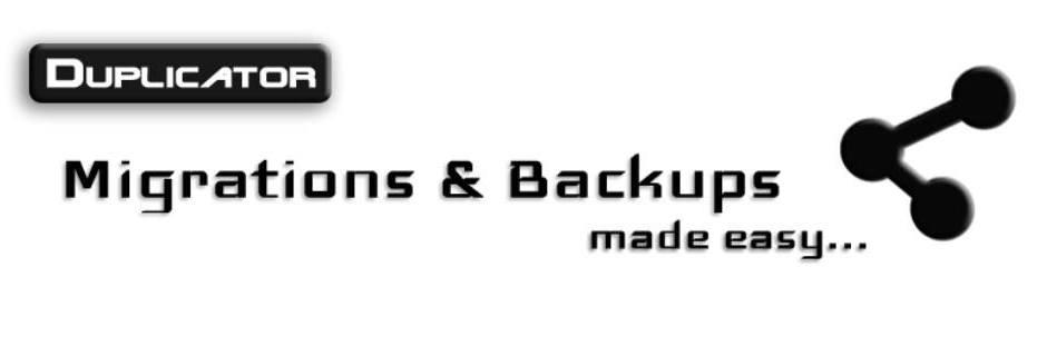 Duplicator Backup Plugin