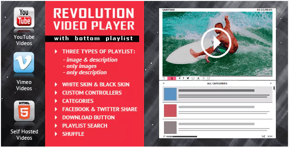 Revolution Video Player Plugin