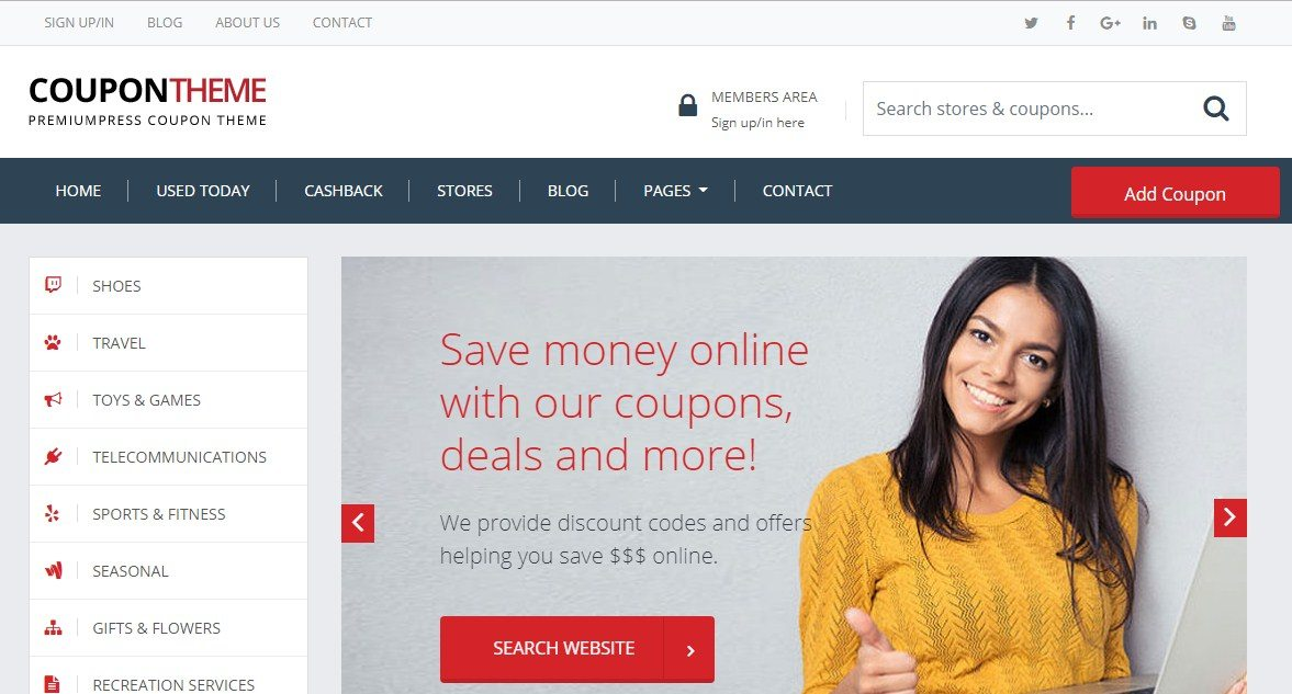 WordPress Coupon Theme PremiumPress
