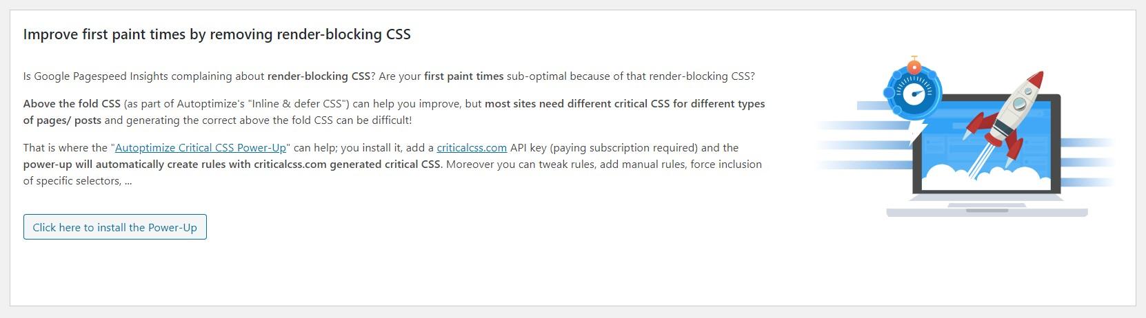 Autoptimize Critical CSS