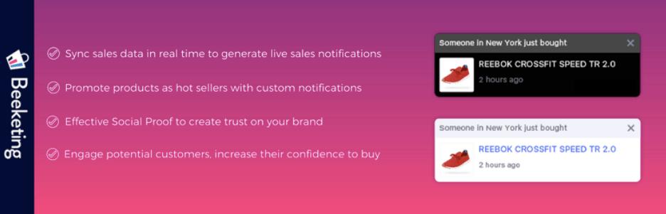 live sales notifications