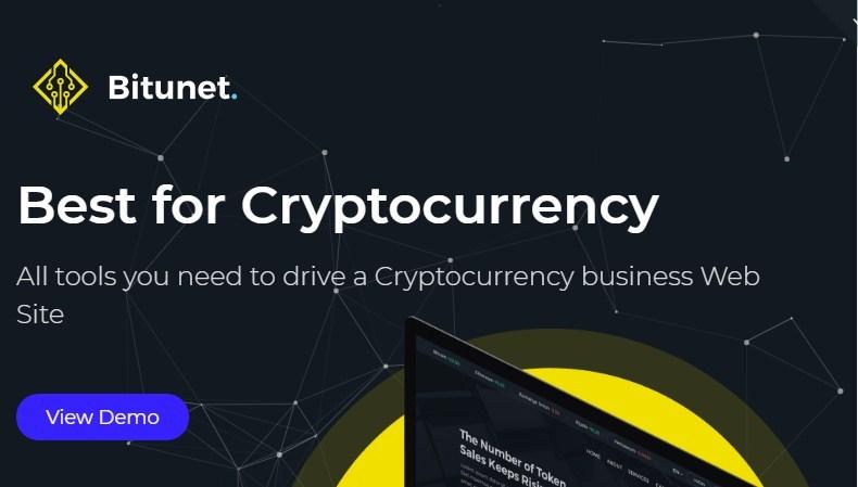 Bitunet CryptoCurrency WordPress Theme