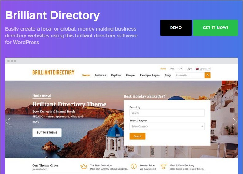 Brilliant Directory WordPress Theme