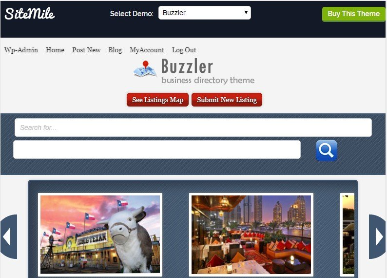 Buzzler Business Directory WordPress Theme