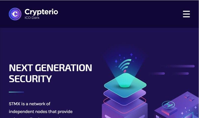Crypterio ICO Landing Page