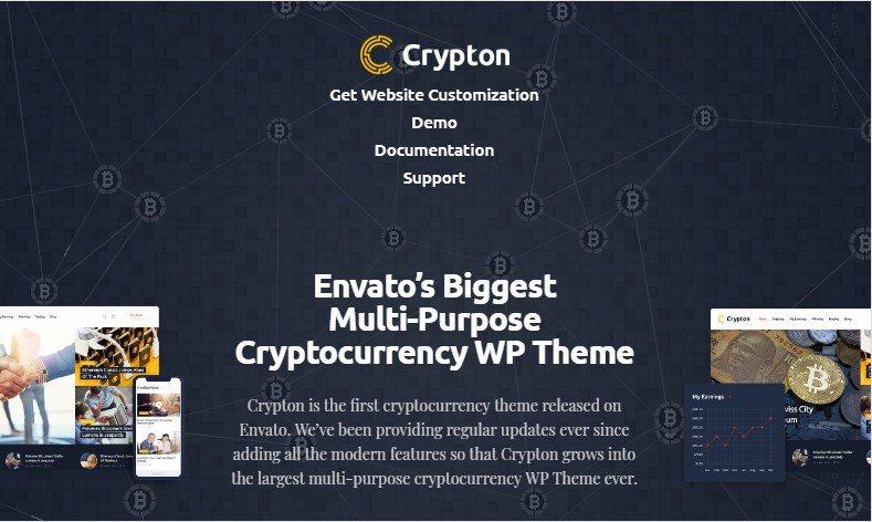 Crypton Cryptocurremcy WordPress Theme