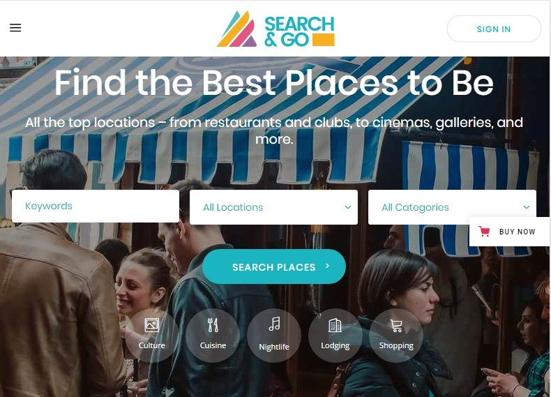 Search Go Directory WordPress Themes