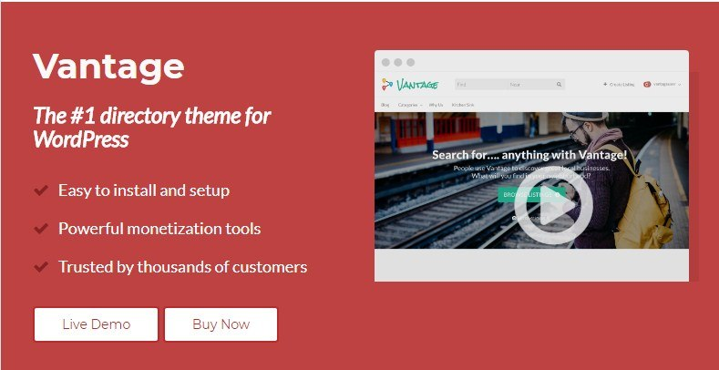 Vantage Directory WordPress Theme