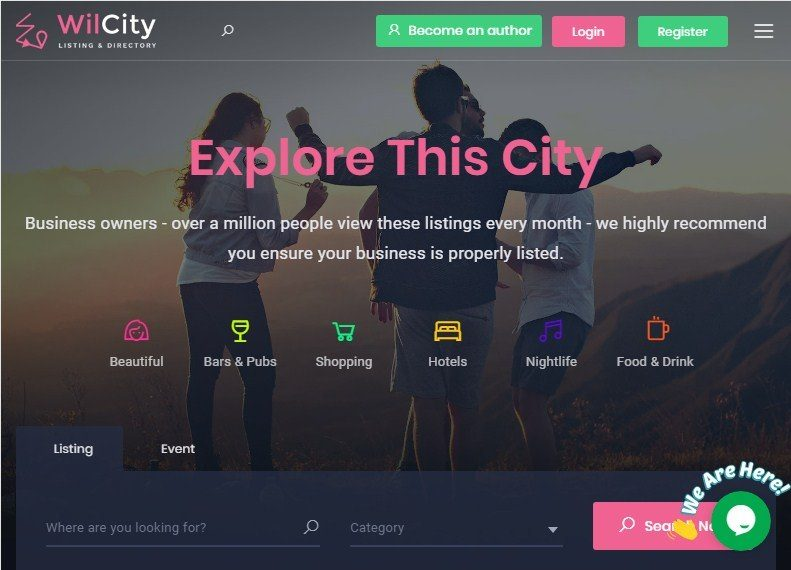 Wilcity Directory Listings Theme