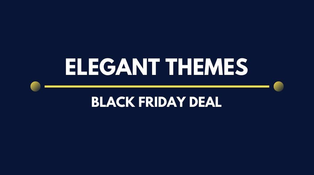 Elegant Themes Black Friday Banner