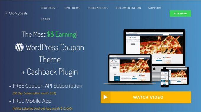 ClipMyDeals – A new Cashback + Coupon WordPress Theme