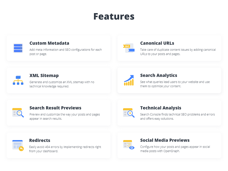 10Web SEO features