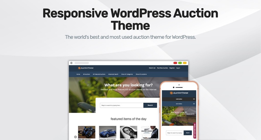 Sitemile WordPress Auction Theme