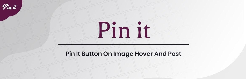 Pin it button plugin weblizar